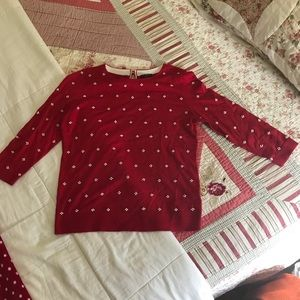 NWOT Talbots Sweater With Faux Pearls.